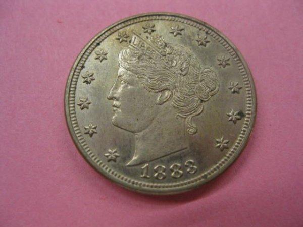 179: 1883 U.S. Liberty Head Nickel, uncirculated,