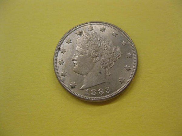 180: 1883 Liberty Head Nickel, no cents variety, Unc