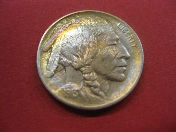 181: 1913 Buffalo Nickel, variety 1, uncirculated.
