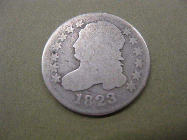 182: 1823 U.S. Bust Dime, good front, poor back.