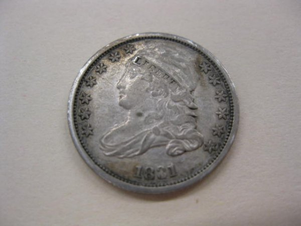 183: 1831 U.S. Bust Dime, capped bust VF/XF.