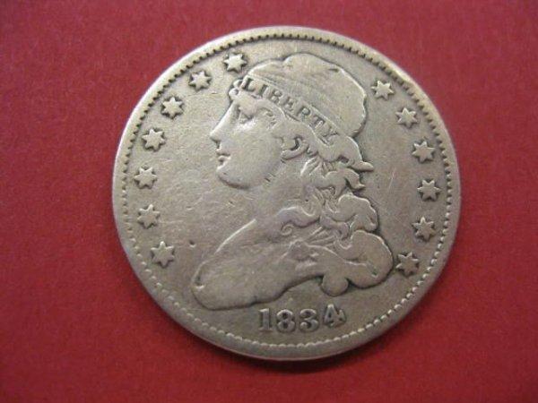 189: 1834 U.S. Capped Bust Quarter, fine.