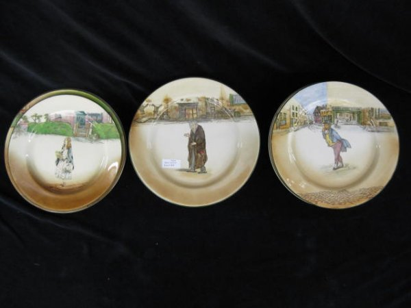 405: 9 Royal Doulton Dickensware Plates, early serieswa