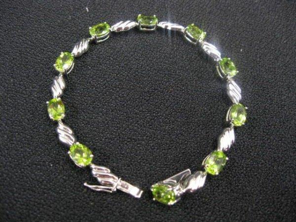 410B: Peridot Bracelet, 10 oval gems totaling 15 carats