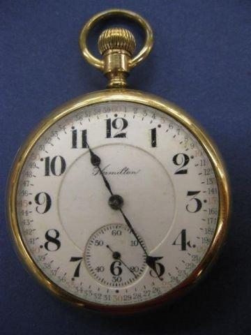 704B: Hamilton Railroad Pocketwatch, model 950, 23 jewe