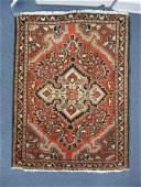 714 Hamadan Persian Handmade Mat primarily ivory  br