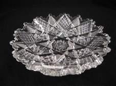 945 Libbey Brilliant Period Cut Glass Dish