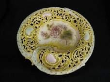 987: Zsolnay Hungarian Art Pottery Dish,