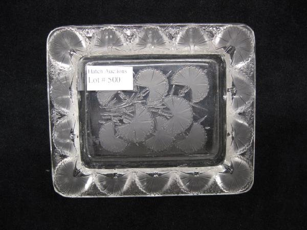500: Lalique French Crystal Dish,