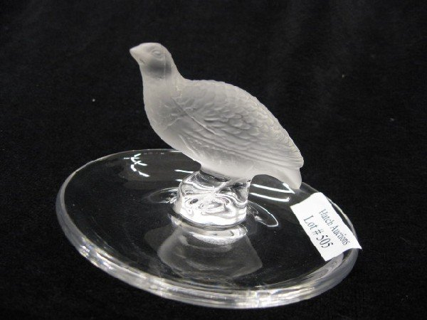 505: Lalique French Crystal Pin Dish