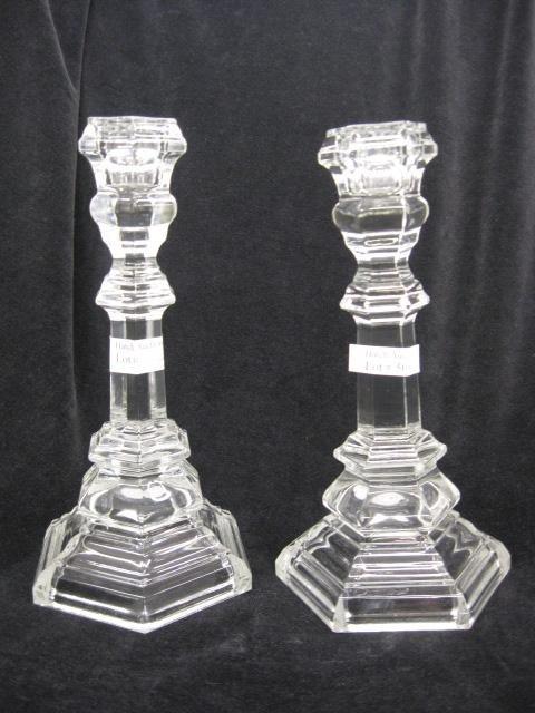 508: Pair of Tiffany Crystal Candlesticks,