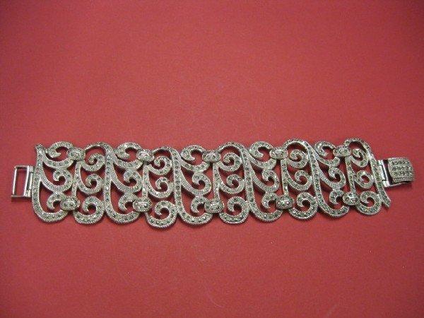 511B: Sterling Silver Marcasite Bracelet,