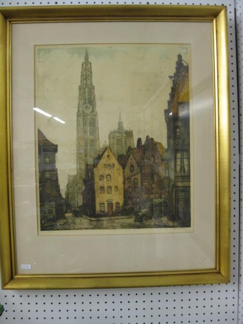 512: Alfred Van Neste, Drypoint Etching,