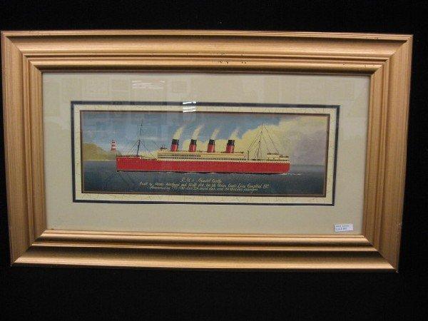 "893: Print of Steam Ship, ""R.M.S. Arundel Castle"","