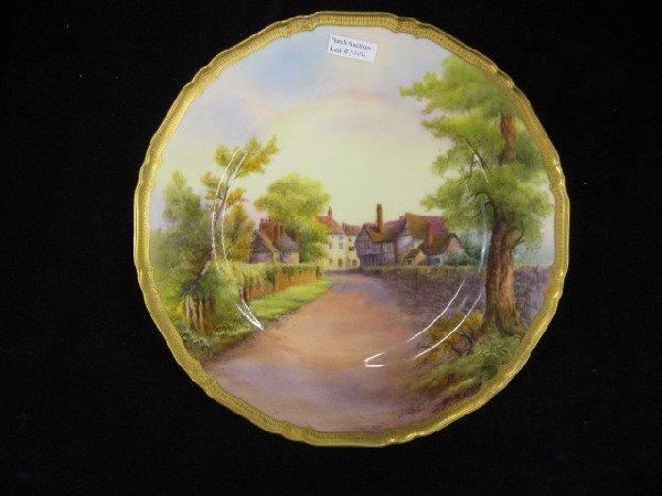 1000: Royal Worcester Porcelain Cabinet Plate,