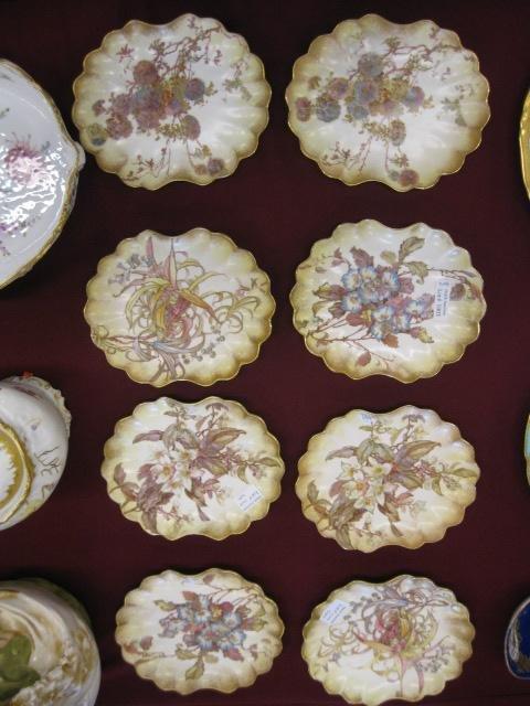 1003: Set of 8 Doulton Burslem Porcelain Plates,
