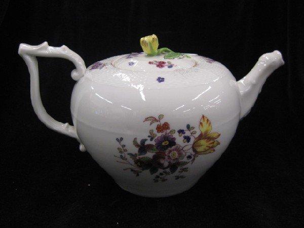 1006: Herend Porcelain Teapot,