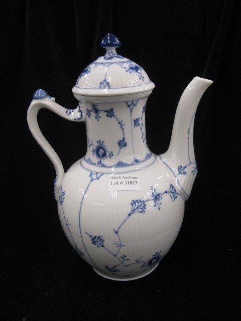 """1007: Royal Copenhagen """"Blue Fluted"""" Coffeepot,"""