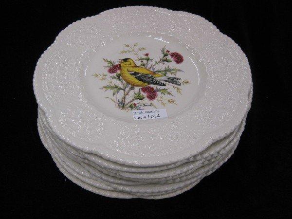 "1014: Set of 8 Royal Cauldon ""Aviary"" Plates,"