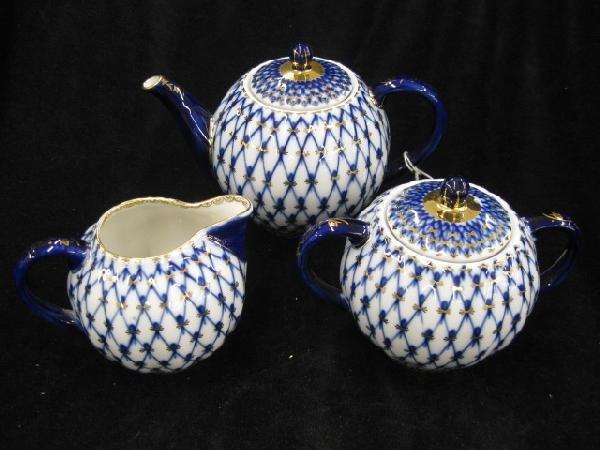 1017: Russian Porcelain Tea Set,