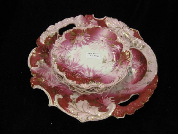 1018: R.S. Prussia Porcelain Cake Set,