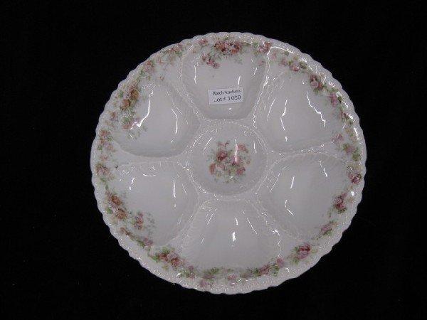 1020: Victoria Austria Porcelain Oyster Plate,