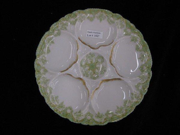 1021: Haviland Limoges Porcelain Oyster Plate,