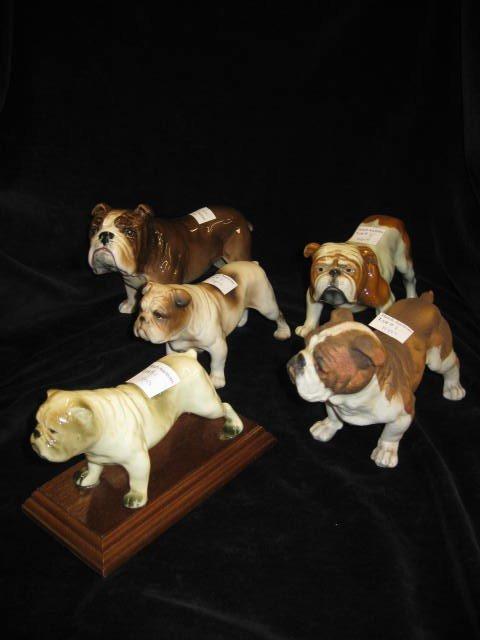 1: 5 Bulldog Figurines, Sylvac, Goebel & others,