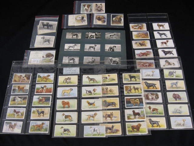 8: Collection of Various Dog Related Cigarette Cards, E