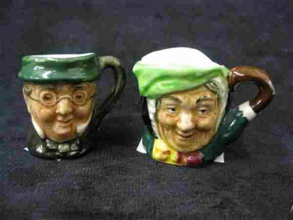 """200B: 2 Royal Doulton Tiny Character Mugs, """"Sairey Gamp"""