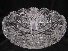696: Hawkes Cut Glass Centerpiece Bowl, brilliant perio