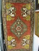 1155 Hamadan Persian Handmade Mat geometric designs o