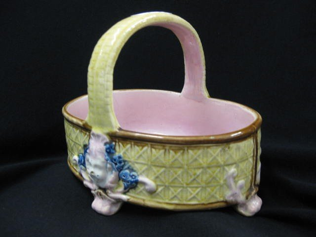 3B: Majolica Pottery Basket,