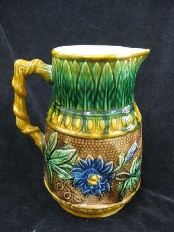 4: Majolica Pottery Pitcher,