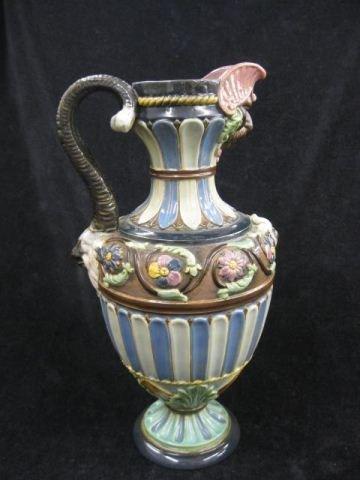 7: Majolica Pottery Pitcher,
