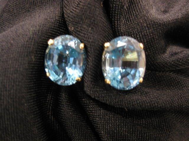 11B: Blue Topaz Earrings,