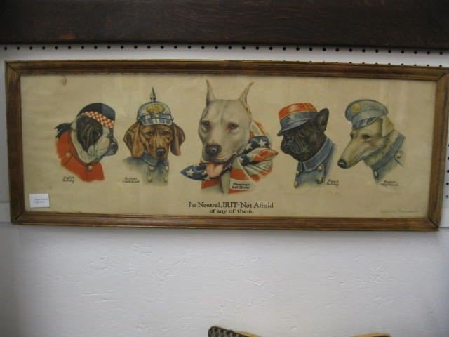 12: Wallace Robinson Military Print with Dog,