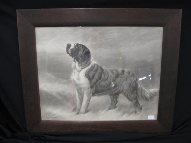 13: Maud Earl Victorian Engraving of a Dog,