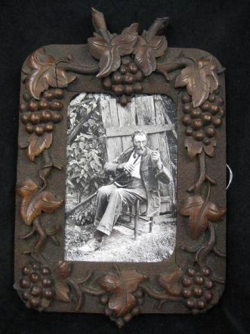 19: Black Forest Carved Picture Frame,