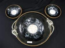 65  Serge Nekrassoff Enameled Copper Salad Set