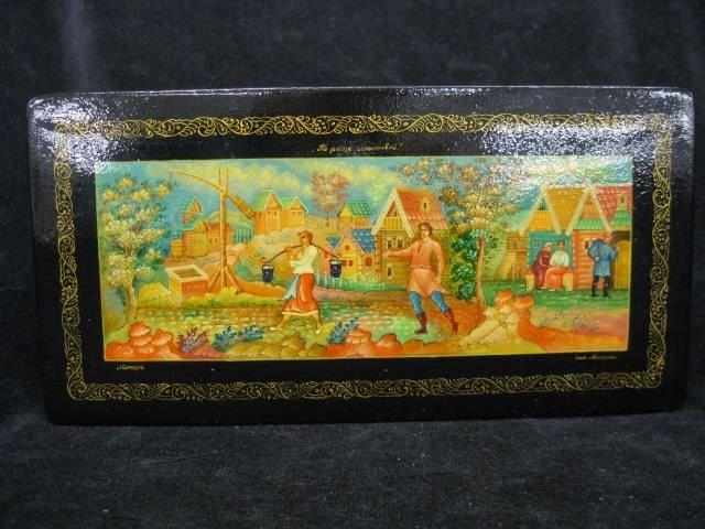 104C: Russian Lacquerware Dresser Box,