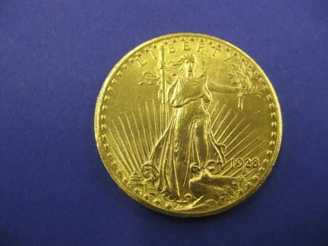 310B: 1928 U.S.  $20.00 St. Gauden's Gold Coin,