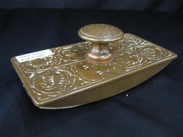 507: Tiffany Zodiac Bronze Blotter,
