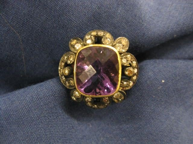 510: Amethyst & Diamond Ring,