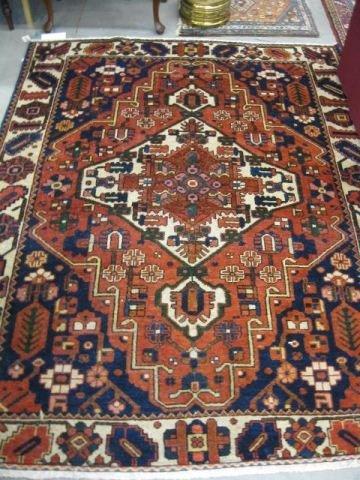 515: Bakhteiari Persian Handmade Rug,