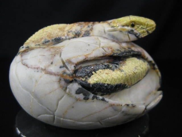516: Hardstone Carving of a Snake Emerging