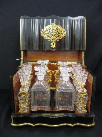 519: French Victorian Liquor Tantilus Set,