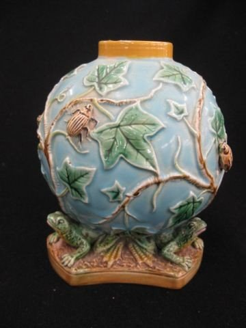 1: George Jones Majolica Pottery Vase,