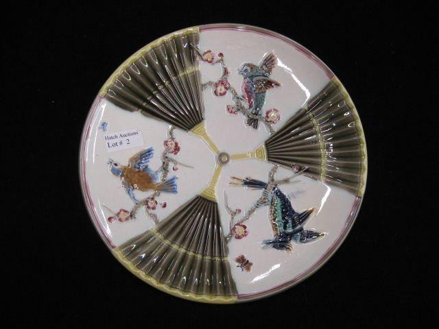 2: Wedgwood Majolica Pottery Plate,