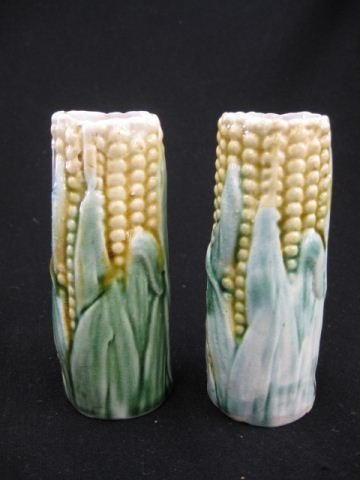 4: Pair of Majolica Pottery Vases,